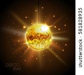 disco ball. disco background | Shutterstock .eps vector #581828935
