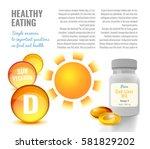 vitamin d flyer or leaflet... | Shutterstock .eps vector #581829202