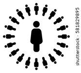 social circle   Shutterstock .eps vector #581829895