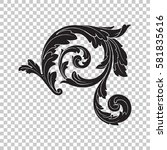 isolate vintage baroque... | Shutterstock .eps vector #581835616