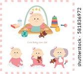 baby icon set. vector... | Shutterstock .eps vector #581836972
