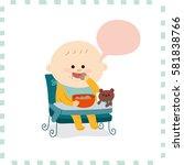 cute baby boy.vector... | Shutterstock .eps vector #581838766