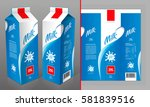 milk package design | Shutterstock .eps vector #581839516