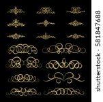 gold vintage decor elements and ... | Shutterstock . vector #581847688