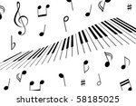 Music Notes Around The Piano...