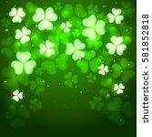 green background of st....   Shutterstock . vector #581852818