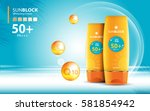 sunblock ads template  sun... | Shutterstock .eps vector #581854942
