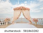 Wedding Arch Peach Color With...