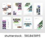 memphis geometric background... | Shutterstock .eps vector #581865895