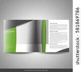 bi fold square business or... | Shutterstock .eps vector #581869786