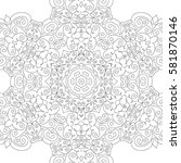 adult coloring book page.... | Shutterstock .eps vector #581870146