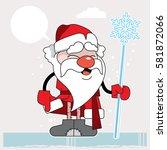 father christmas cartoon | Shutterstock .eps vector #581872066