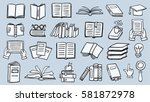 set of book doodles | Shutterstock .eps vector #581872978
