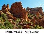broken walls of sandstone in a... | Shutterstock . vector #58187350