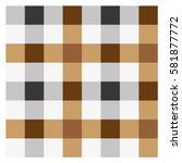 seamless pattern of brown black ... | Shutterstock .eps vector #581877772