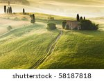 early morning on countryside in ... | Shutterstock . vector #58187818