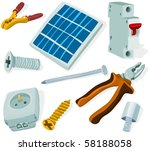 set of a building tools and... | Shutterstock .eps vector #58188058