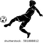 soccer power left kick | Shutterstock .eps vector #581888812