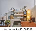 modern trending interior... | Shutterstock . vector #581889562