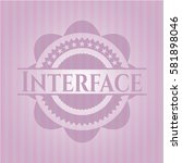 interface pink emblem | Shutterstock .eps vector #581898046