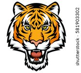 a tiger head logo. this is... | Shutterstock .eps vector #581903302