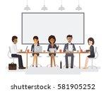 group of working people ... | Shutterstock .eps vector #581905252