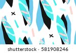 hand made vector abstract... | Shutterstock .eps vector #581908246