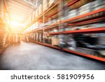 warehouse industrial and... | Shutterstock . vector #581909956