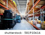 large hangar warehouse... | Shutterstock . vector #581910616