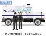 police concept. detailed... | Shutterstock .eps vector #581913832