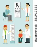 medicine concept ophthalmology... | Shutterstock .eps vector #581913886