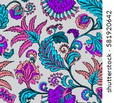 seamless pattern with fantasy... | Shutterstock .eps vector #581920642