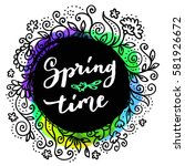 springtime. creative modern... | Shutterstock .eps vector #581926672