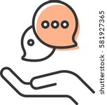 chat in hand icon   Shutterstock .eps vector #581927365