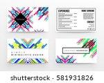 memphis geometric background... | Shutterstock .eps vector #581931826