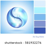 two water drops forming the... | Shutterstock . vector #581932276