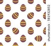 seamless easter pattern.... | Shutterstock .eps vector #581932852