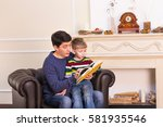Father And Son Reading Story...