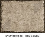 A Raised Stone Tablet With Fer...