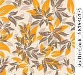 seamless flowers pattern   Shutterstock .eps vector #581940175