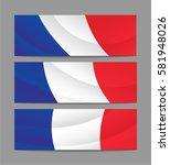 france banner  flag | Shutterstock .eps vector #581948026