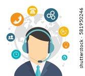 character call center world... | Shutterstock .eps vector #581950246