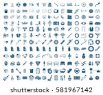 big garage set. vector car... | Shutterstock .eps vector #581967142