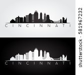 cincinnati usa skyline and... | Shutterstock .eps vector #581967232