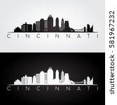 Cincinnati Usa Skyline And...