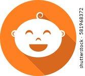 round icon of child user... | Shutterstock .eps vector #581968372