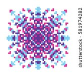 vector pixel oriental purple... | Shutterstock .eps vector #581974282