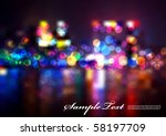 blurry lights | Shutterstock .eps vector #58197709