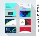 corporate business card set... | Shutterstock .eps vector #581978896