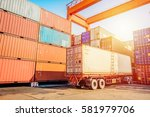 business logistics concept... | Shutterstock . vector #581979706